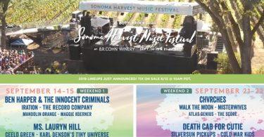 Sonoma Harvest Music Festival: Ben Harper; Ms. Lauryn Hill; Death Cab for Cutie