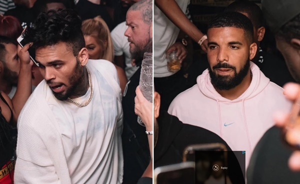 Chris Brown and Drake SPOTTED Partying in Public