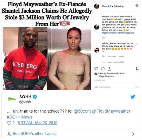 50 Cent FLAMES Floyd Mayweather Jr. Again