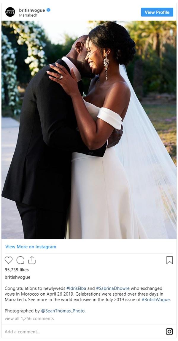 Idris Elba New Bride Sabrina Baby Bump Showing