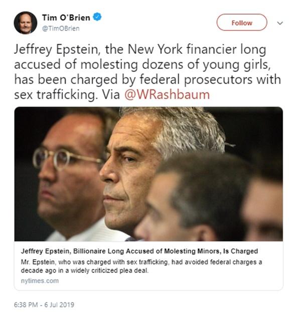 Trump Caught Up in Jeffrey Epstein Scandal