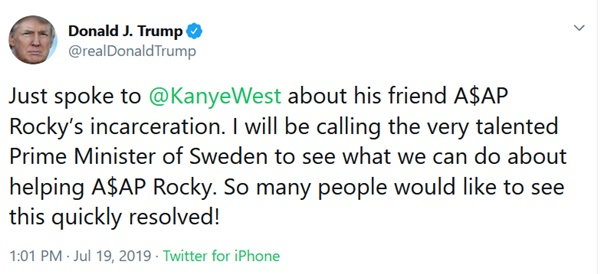Free ASAP Rocky...We See You Ambassador to Sweden