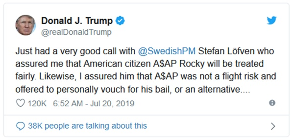 Swedish Prime Minister to Trump: ASAP Rocky Won't Get Special Treatment