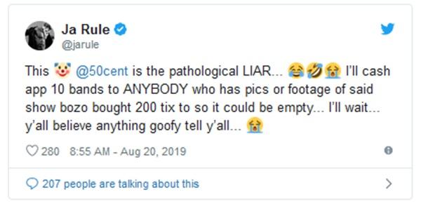 "Ja Rule CALLS 50 Cent A ""Pathological Liar"""