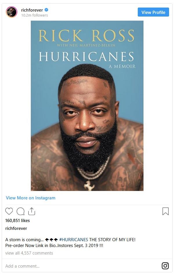 "Rick Ross Admits Codeine Abuse in ""Hurricanes"" Memoir"