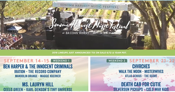 Sonoma Harvest Music Festival Last Chance To Get Tickets Weekend 1