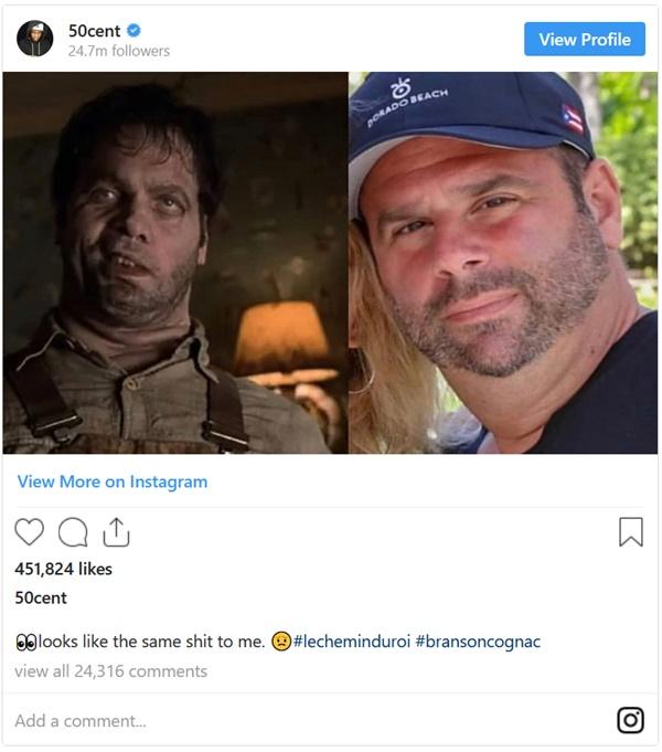 50 Cent Still Trolling Randall Emmett and Fiancée Lala Kent