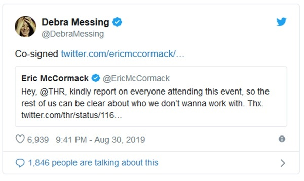 Debra Messing + Donald Trump Feuding On Social Media