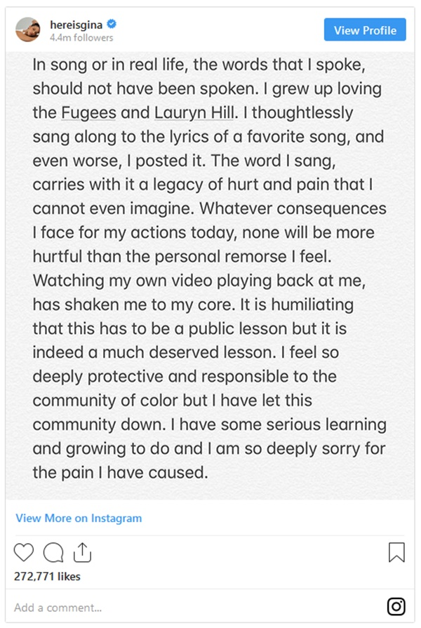 Gina Rodriguez Releases 'Shaken' Statement After N-Word Backlash