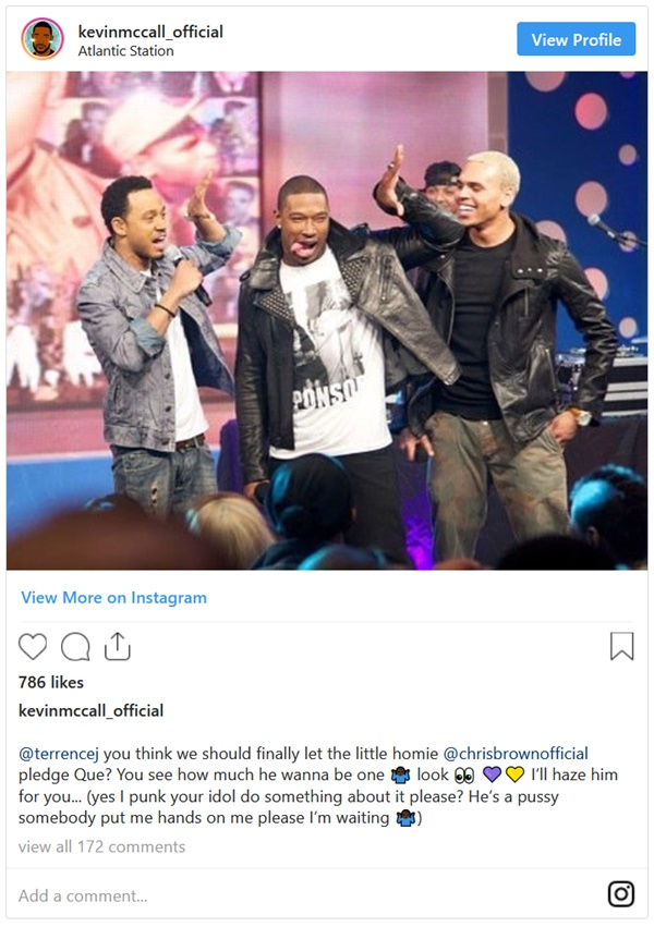 Kevin McCall Wants Chris Brown Fans To Commit Suicide