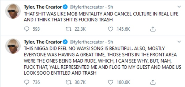 Tyler The Creator UPSET With Tone Deaf Camp Flog Gnaw Fans