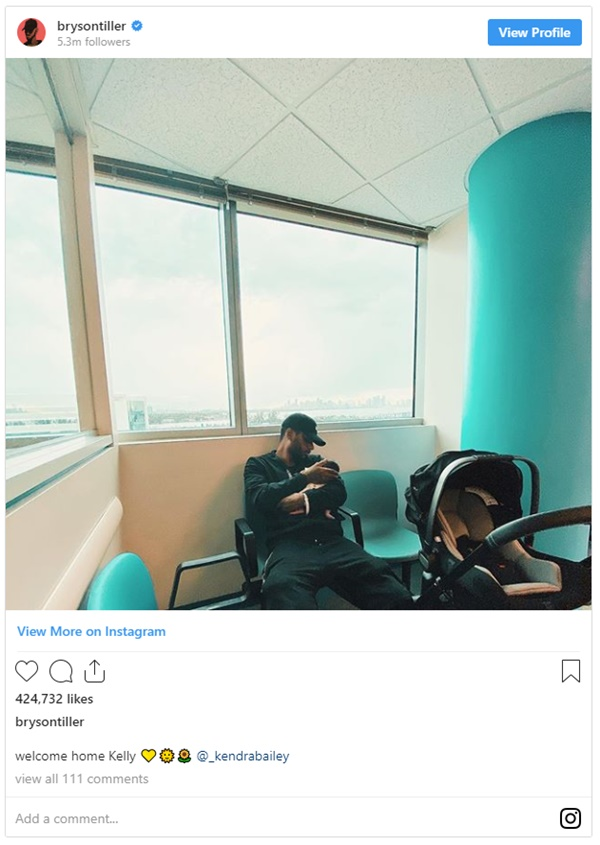 Bryson Tiller Ends The Year With A Brand New Baby