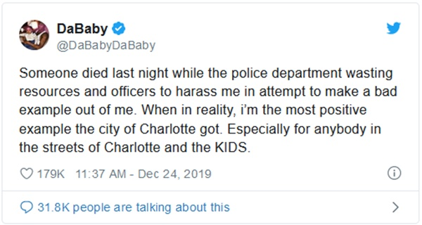 Internal Investigation Launched Over Arrest Of DaBaby