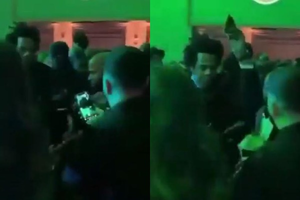 Jay-Z GRABS Phone From Man's Hand Trying To Record He + Bey