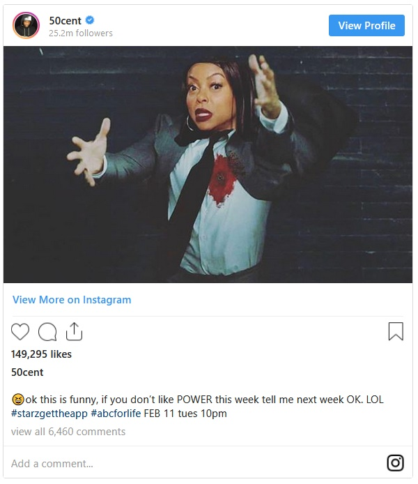 50 Cent Twists The Knife In Taraji P Henson's Back