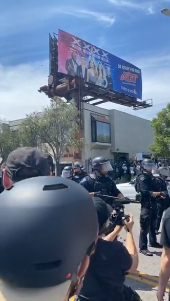 """""""Insecure"""" Star Hit By Baton-Wielding Cop During Peaceful Protest"""