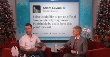 Ellen DeGeneres CLOWNS Adam Levine For His Celebrity Fragrance