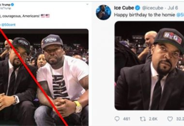 Ice Cube & 50 Cent FALLS Victim To Photoshopped Pic by Eric Trump