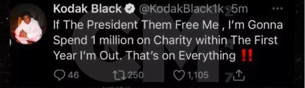 Kodak Black Backpedals on Charitable Donation If Pardoned