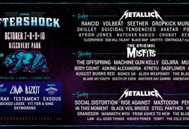 Aftershock 2021: The Misfits Headline Saturday Night