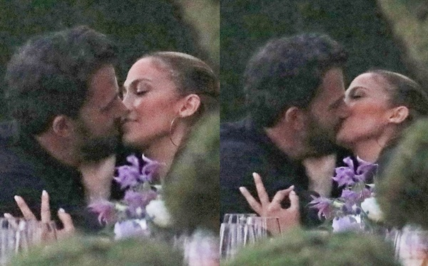 Ben Affleck Jennifer Lopez Kissing in Steamy PDA-Packed Dinner