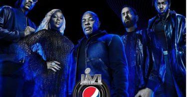 Super Bowl Halftime Show: Dr. Dre Eminem Kendrick Lamar Mary J. Blige + Snoop Dogg.